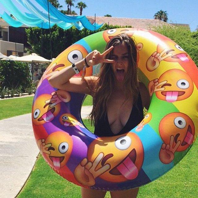 Emoji Pool Inflatable by Flonuts