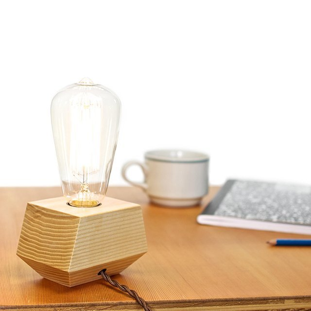 Ash Electric Boxcar Lamp