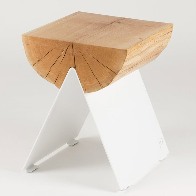 ½ Wooden Stool by Witamina D