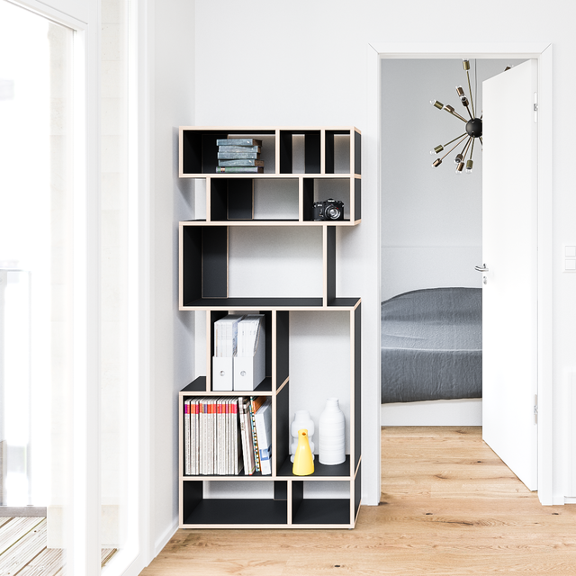 Black Pattern Bookshelf by Tylko