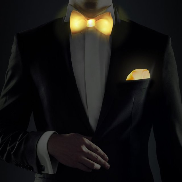 LED Bow Tie & Pocket Square