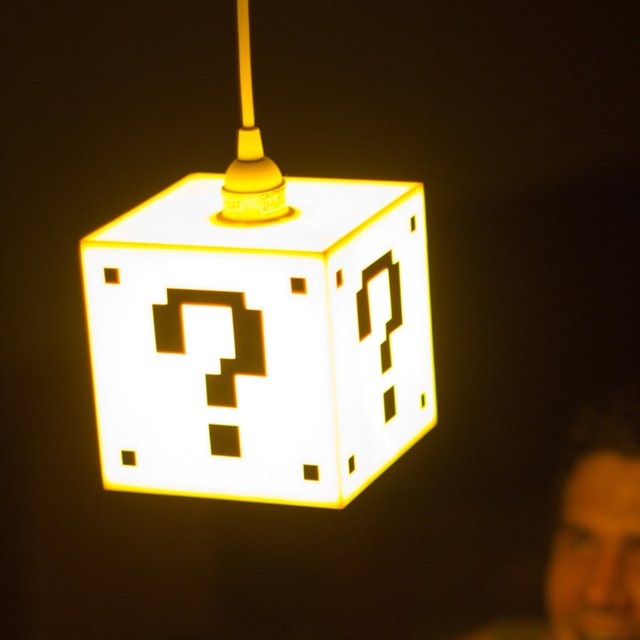 Mario Question Mark Block Hanging Lamp