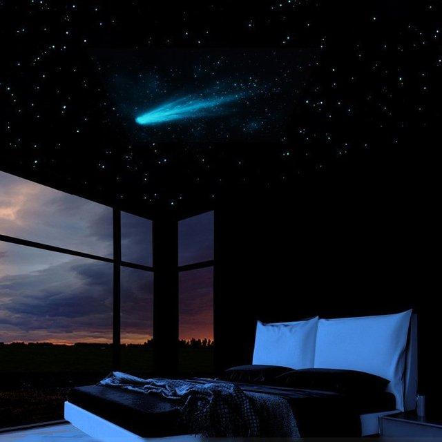Comet & Stars Glow Mural