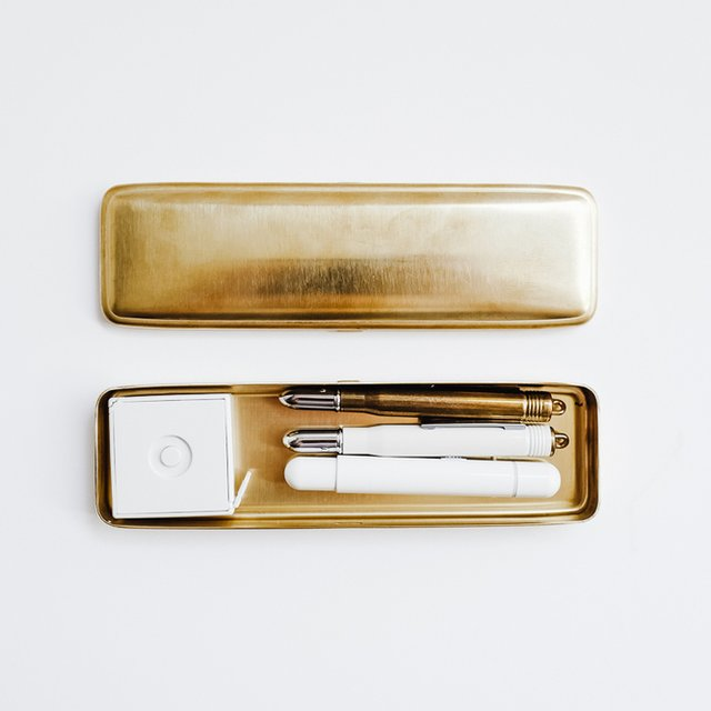 Pencase Solid Brass by Midori