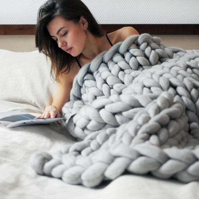 Super Chunky Merino Blanket by ohhio