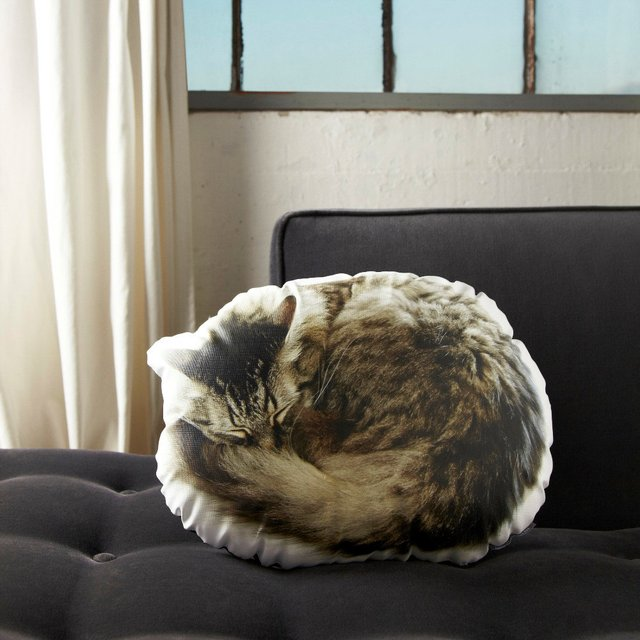 Sleeping Cat Pillow by In the Seam