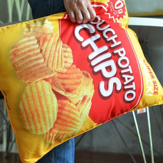 Potato Chip Retro Pillow