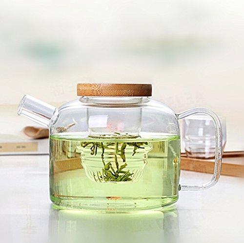 Dechunxian Glass Tea Pot + Tea Infuser Strainer