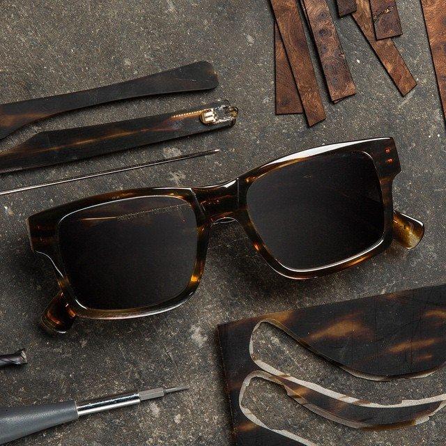 Haystack Tortoise Mahogany Grey Sunglasses by Shwood