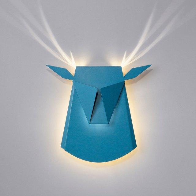 Blue LED Aluminium Deer Head Light Fixture