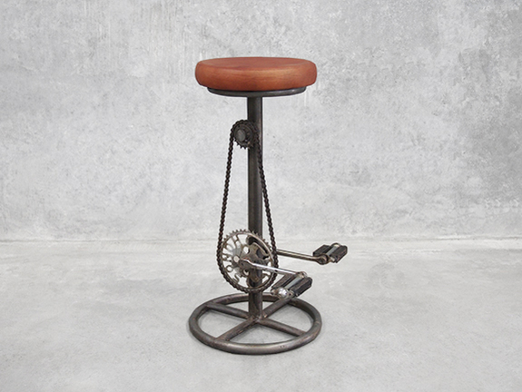 Industrial Bike Pedal Bar Stool
