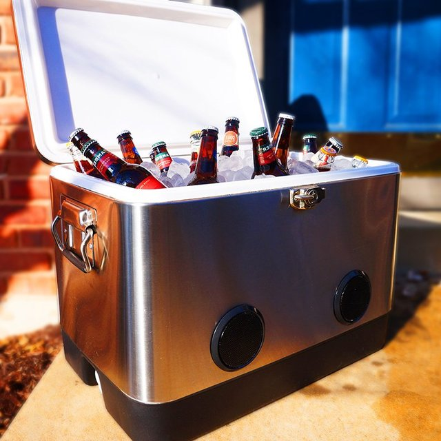 Bluetooth Speaker BREKX 54QT Stainless Steel Party Cooler