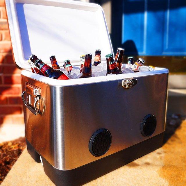 Bluetooth Speaker BREKX 54QT Stainless Steel Party Cooler