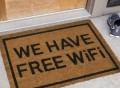 We Have Free WiFi Doormat