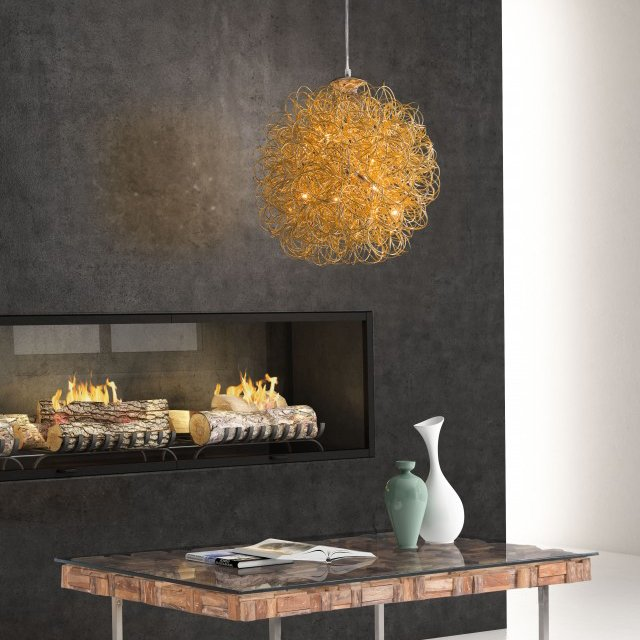 Zitto Gold Ceiling Lamp