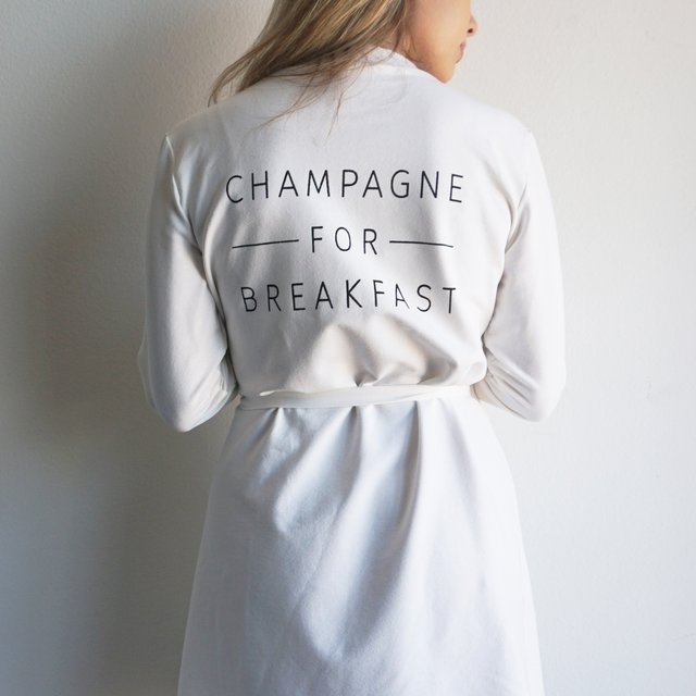 Champagne For Breakfast Robe