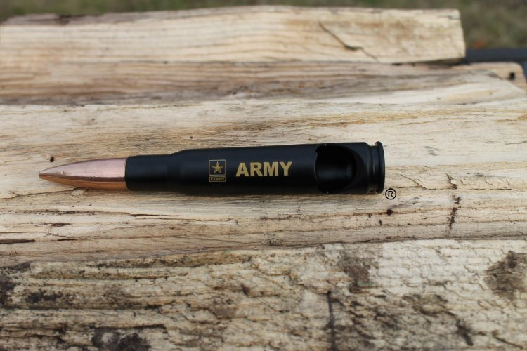 Personalizable-US Army-50 Caliber® Military Bullet Bottle Opener