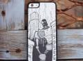 Monochrome Robot Doom iPhone 6 Wood Slim Case by Augiewan