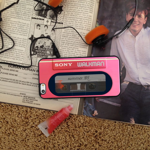 Retro Pink Walkman Phone Case