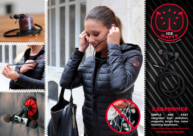 ICE-WATTS: The Ultimate Music Connected Down Jacket Fashion