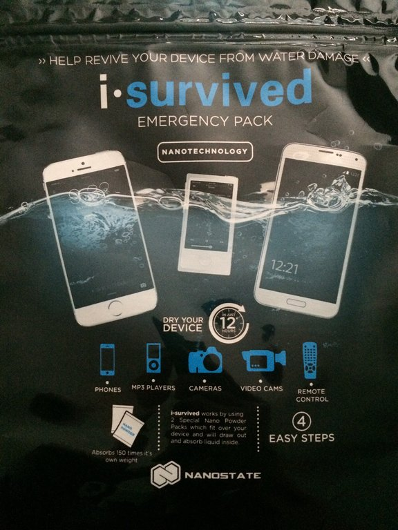 iSurvived: Your device's last defense against water damage