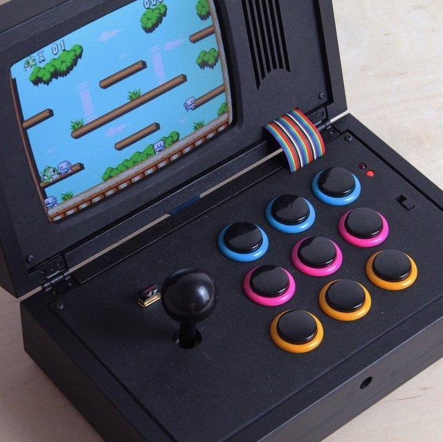 R-Kaid-R Black Rainbow Portable Game Console