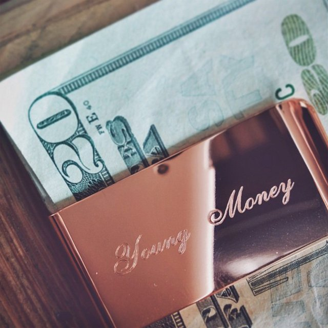 Rose Gold Money Clip