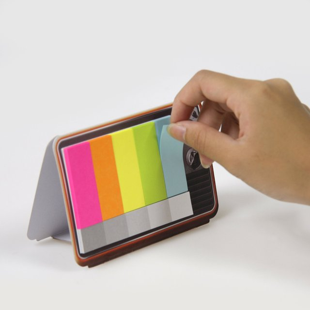 Mini Color TV Sticky Memo Pad