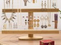 Bamboo & Acrylic Jewelry Organizer Stand