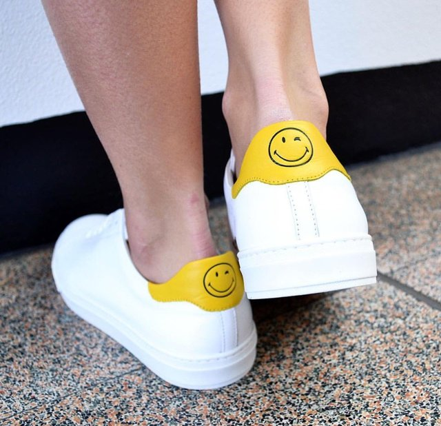 Anya Hindmarch White Wink Tennis Sneakers