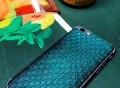 Turquoise Anaconda iPhone 6/6s Leather Skin