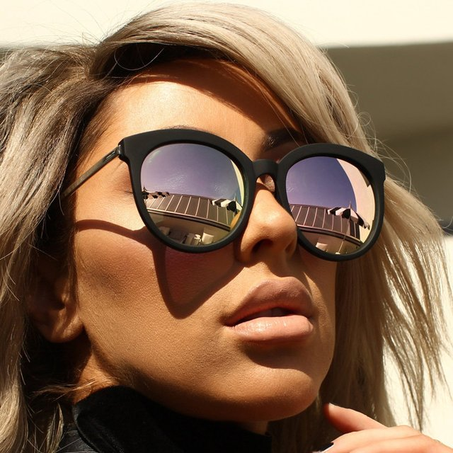 Jetlag Black/Rose Sunglasses by Quay x Chrisspy
