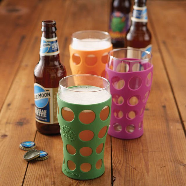 LifeFactory Break-Resistant Beer Glasses