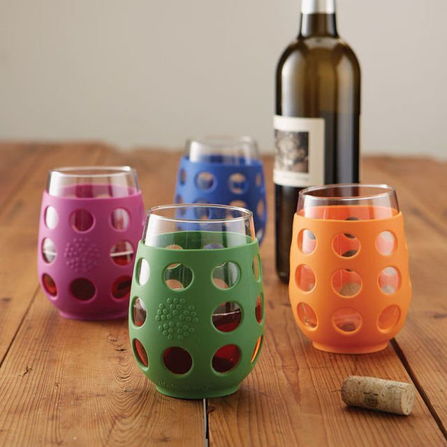 LifeFactory Break-Resistant Wine Glasses