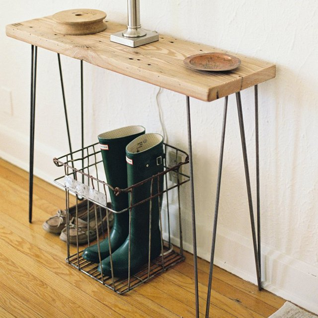 Reclaimed Wood Urban Loft Console Table/Small Desk