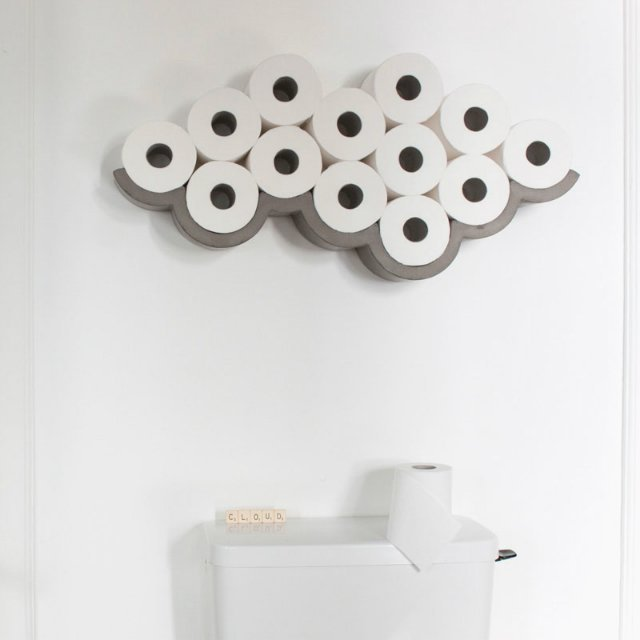 Cloud Concrete Toilet Paper Storage