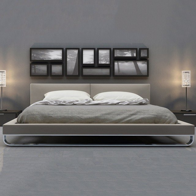 Stansbury Gray Platform Bed