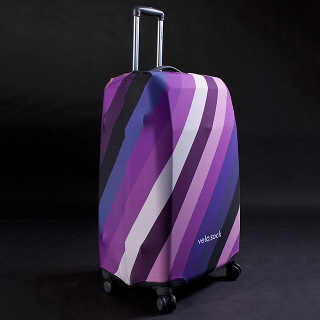 Stripes Luggage Cover by Velosock