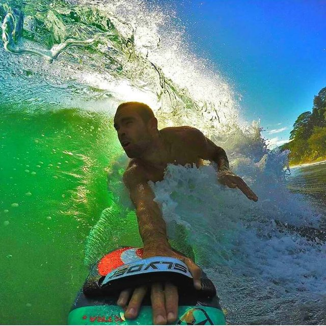 Hipster Wedge Bodysurfing Handboard with GoPro Attachment