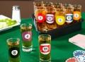 Rack Em Up Billiards Shot Glass Set