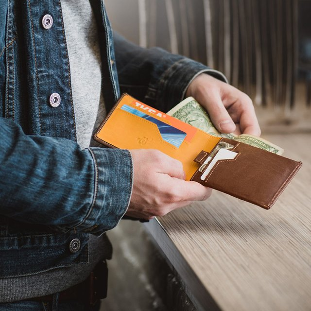 Woolet the Smart Wallet in Brown Leather