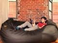 Jaxx Black Denim 7 ft Bean Bag Sofa