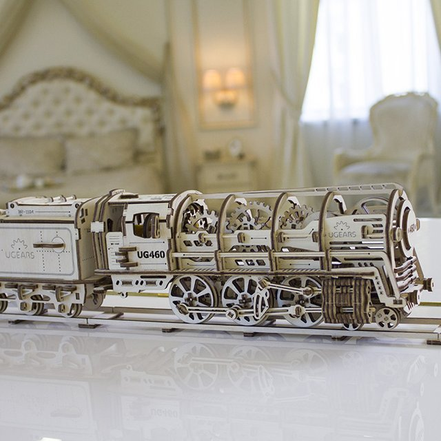 Self-Propelled Wooden Locomotive by UGEARS