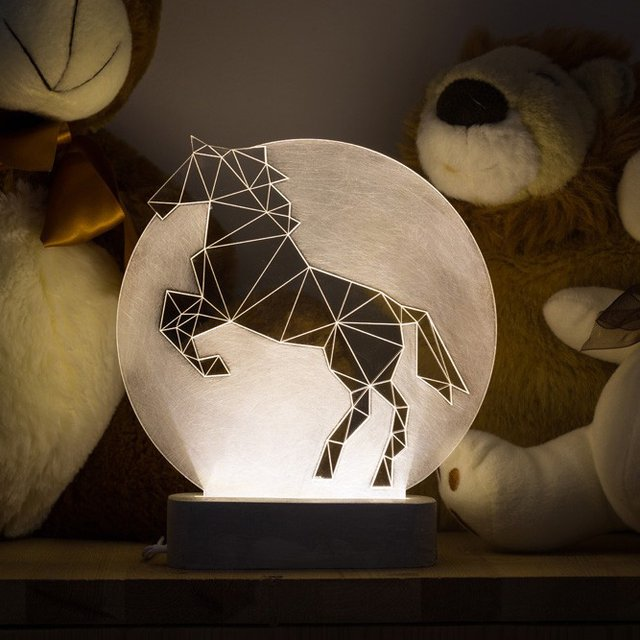 Full Moon Horse Lamp by SturlesiDesign