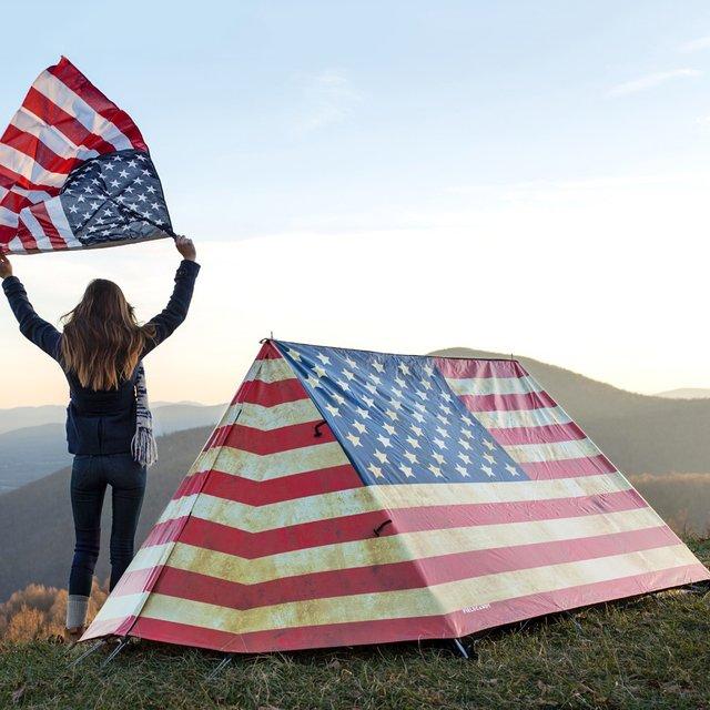American Flag Glory Tent