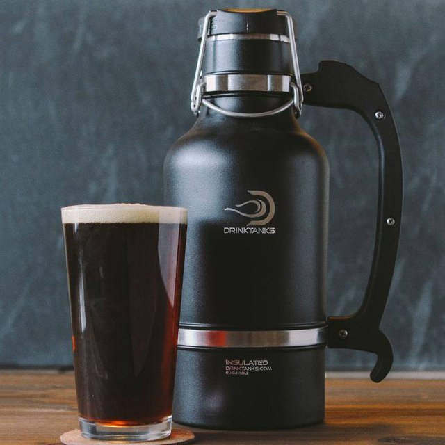 Double Walled Gunmetal Drink Tank Growler