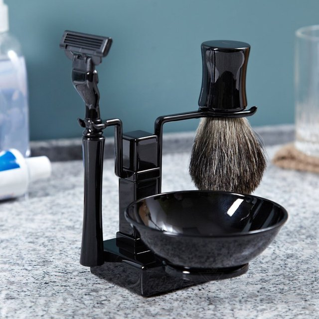 Trifecta Black Shaving Kit