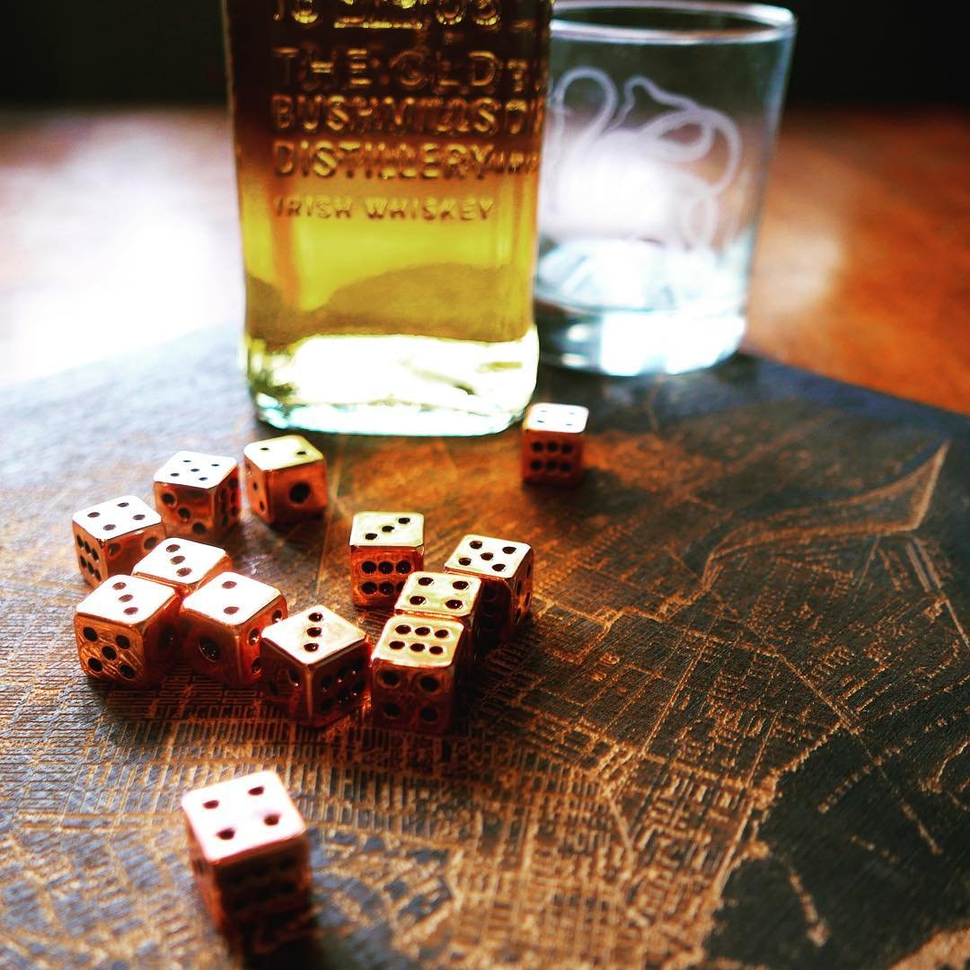 Copper Dice Set
