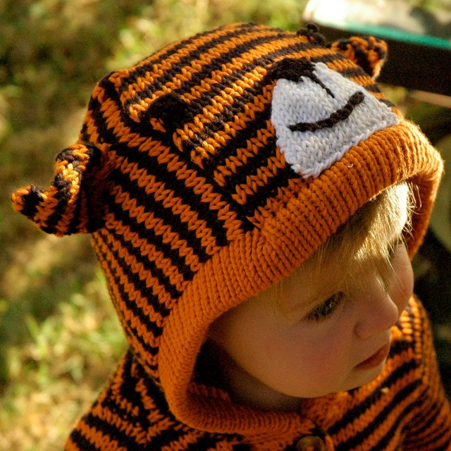 Knitted Tiger Sweater by Toto Knits