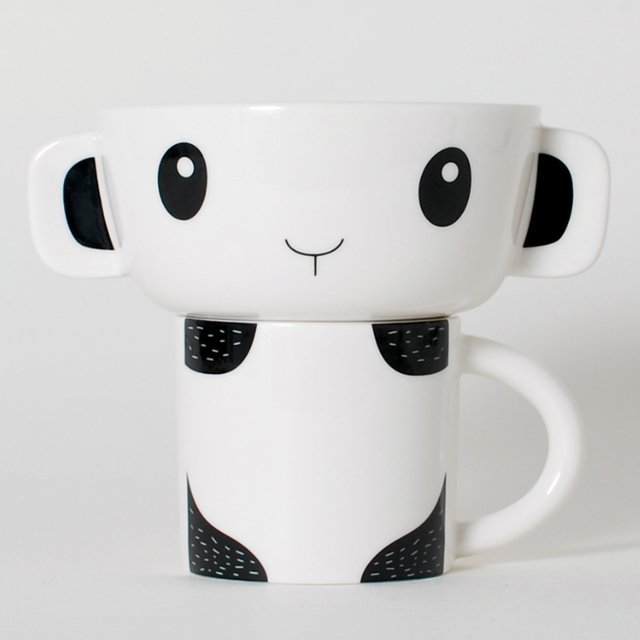 Panda Stacking Bowl & Cup